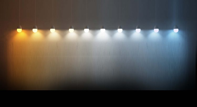 LED lighting color temperature from warm white to cool white